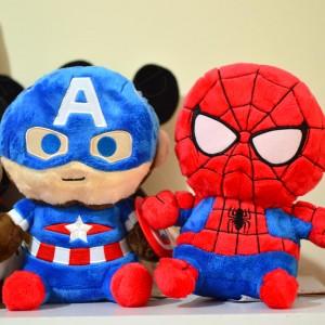 Peluche Marvel Spiderman y Capitán América