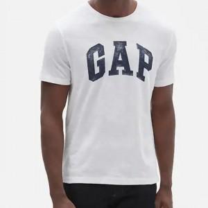 Polo Gap logo color blanco