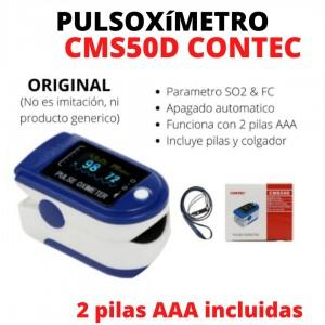 Pulsioxímetro Contec Original Modelo CMS50D - Incluye 2 pilas AAA