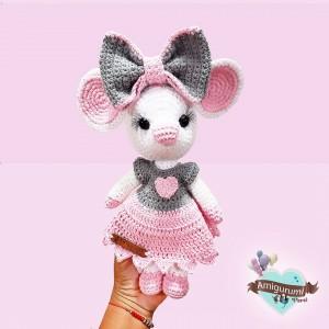 Sweet Mouse - Amigurumi Crochet - Ratoncita Dulce - Regalo para niñas