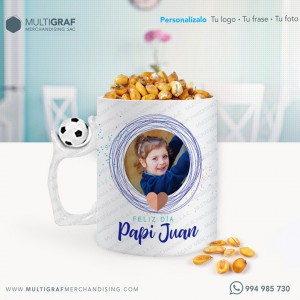 Taza con asa Pelota - Personalizada con tu nombre, foto, o frase favorita Ideal - Amantes del Fútbol