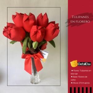 Arreglo de Tulipanes Rojos