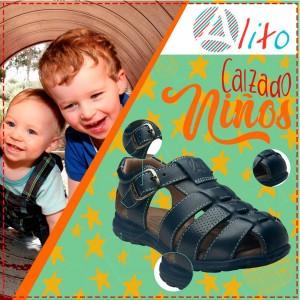 Sandalias Azul de Cuero para bebe o niño
