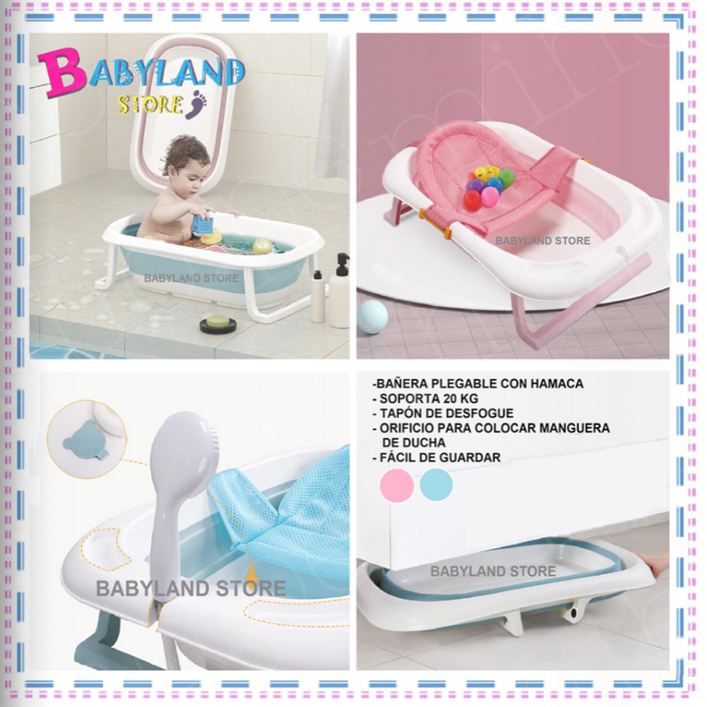 Bañera Plegable con hamaca - Artículos de bebé